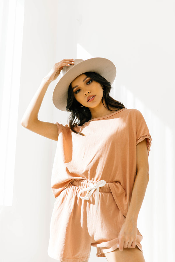 Just Your Type Taupe Top - Luca + Grae