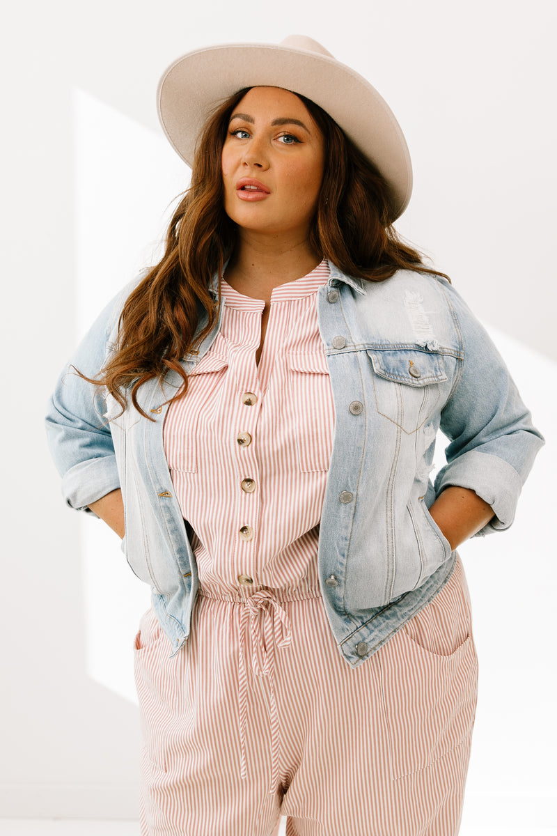Curvy Stray Denim Jacket - Luca + Grae