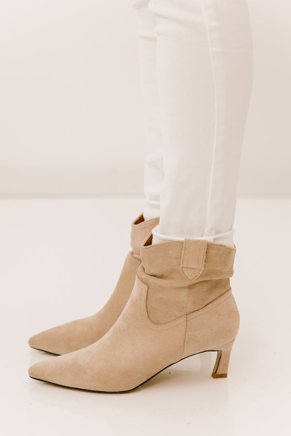Louie Taupe Booties - Luca + Grae