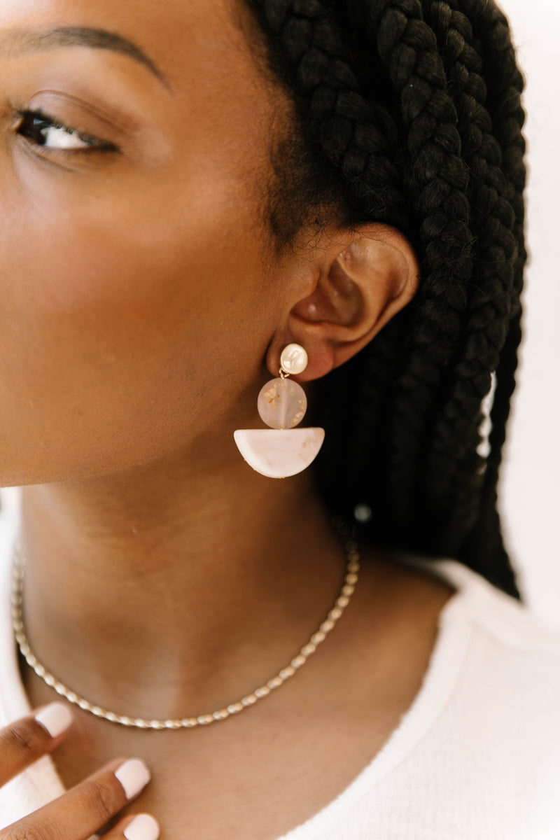 Montpellier Pink Earrings - Luca + Grae