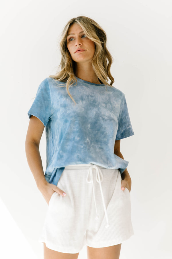 Midnight Blue Tie Dye Tee - Luca + Grae