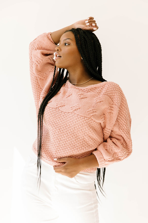 Afterglow Pink Sweater - Luca + Grae