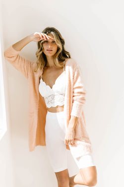 *Open Your Heart Blush Cardigan - Luca + Grae