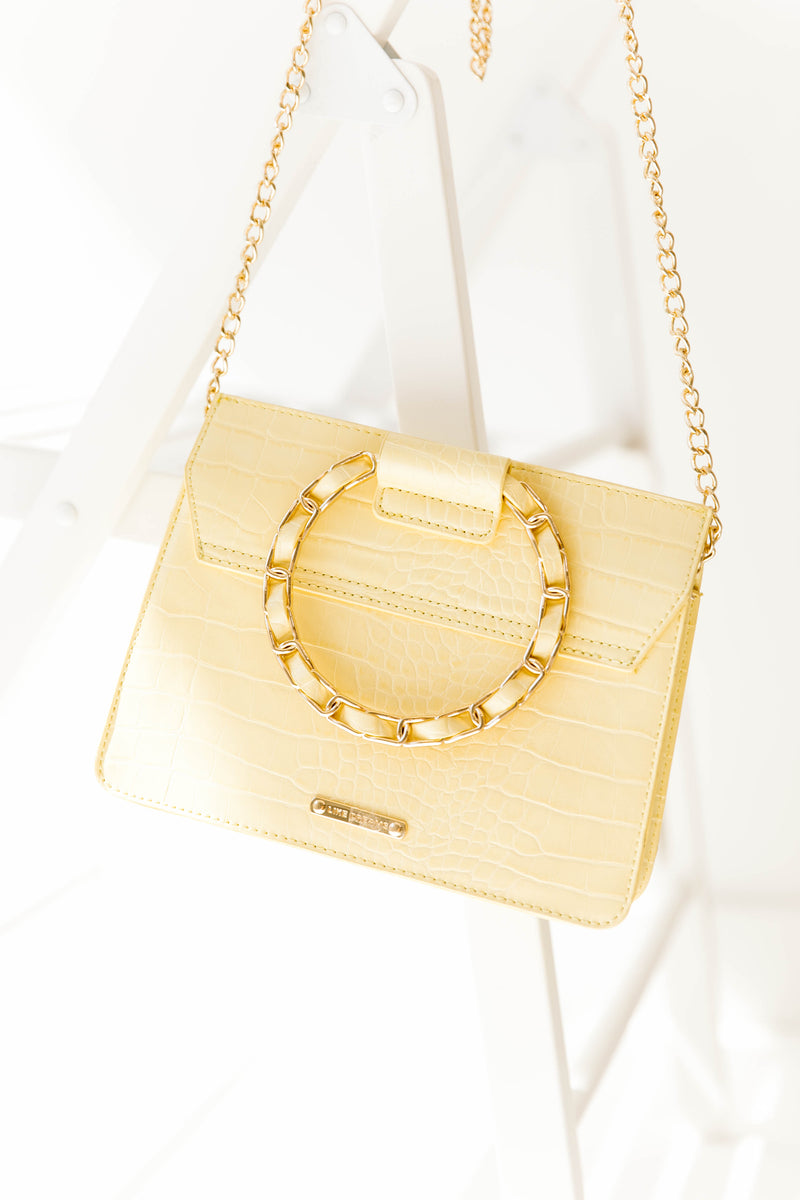 Yellow Hallie Handbag - Luca + Grae