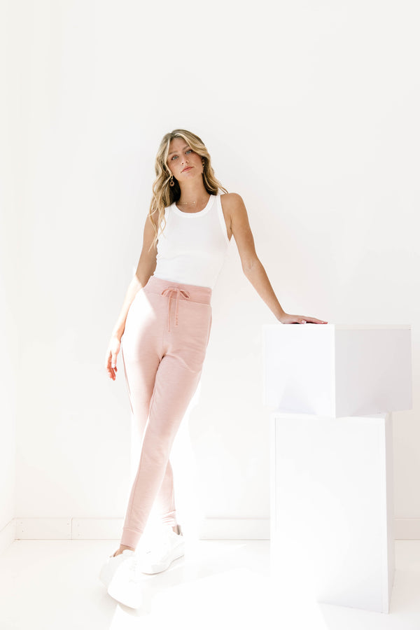 At Home Dusty Pink Joggers - Luca + Grae