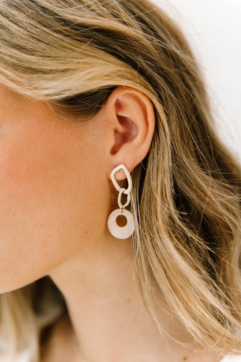 Seaside Pink Earrings - Luca + Grae