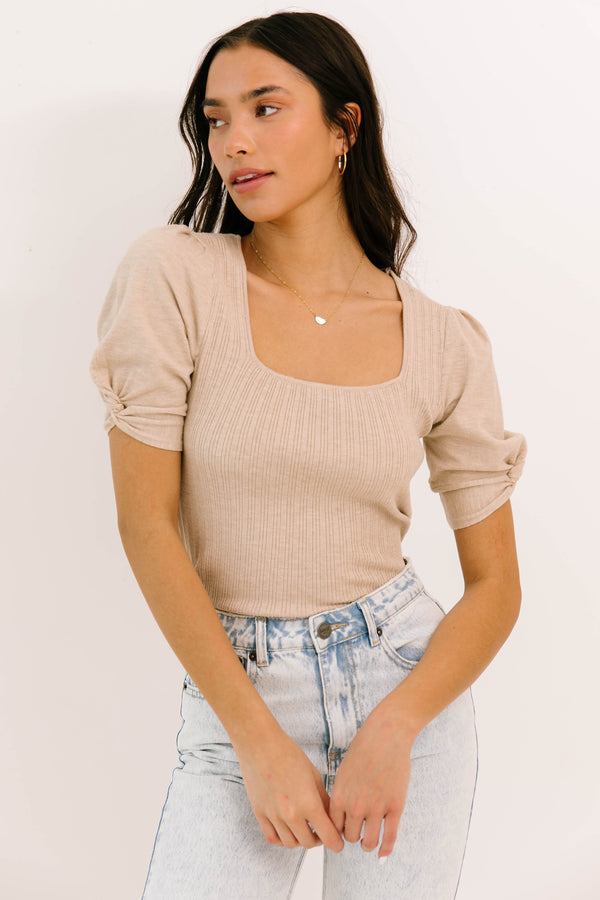 Fleeting Moments Oatmeal Top - Luca + Grae