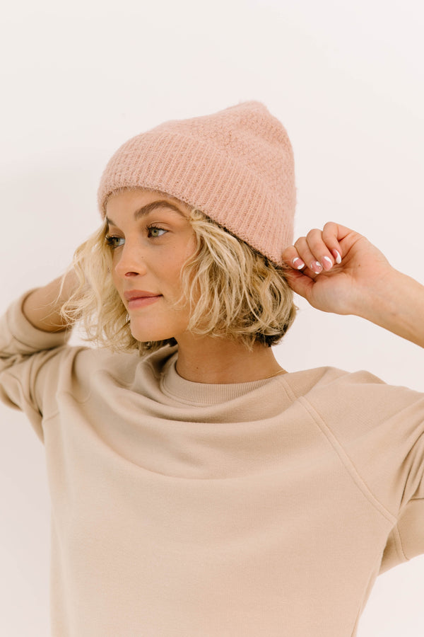 Untouchable Pink Beanie - Luca + Grae