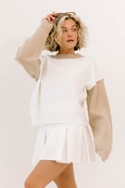 Fresh Air Block Knit Sweater - Luca + Grae