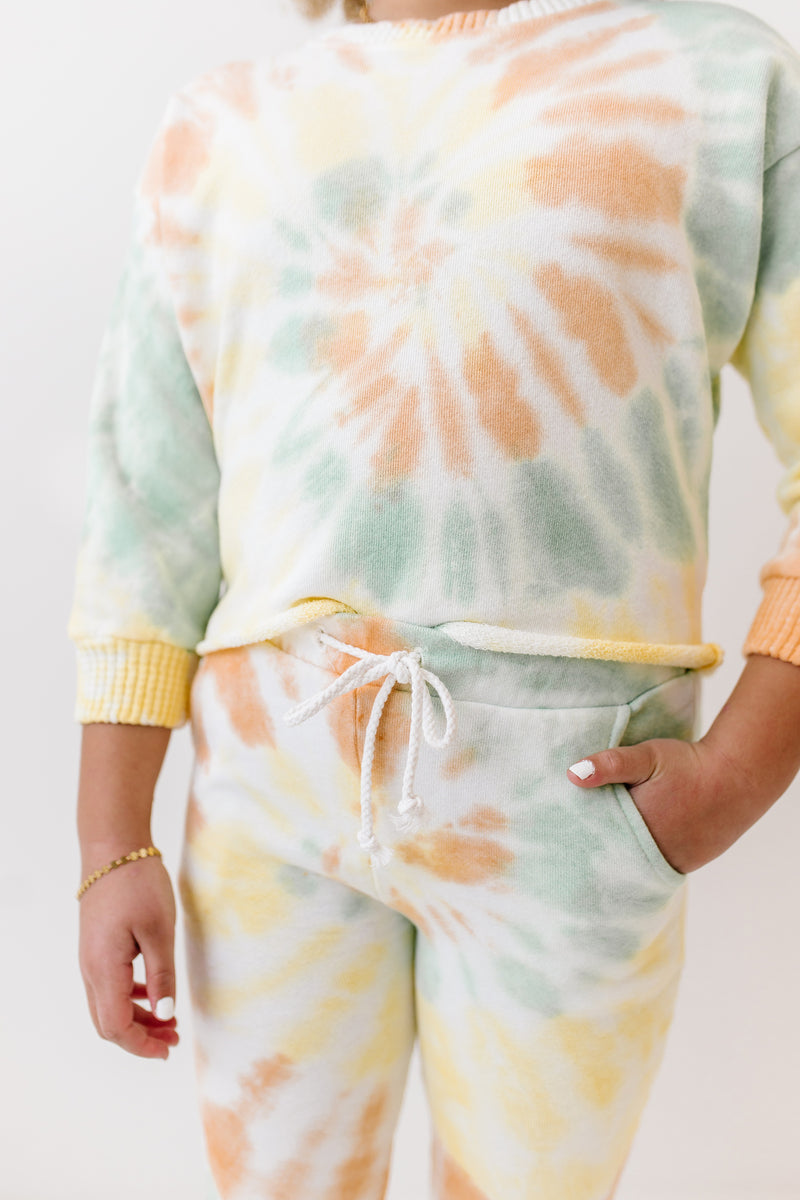 ! Sunday Peach Sweatpants - Luca + Grae