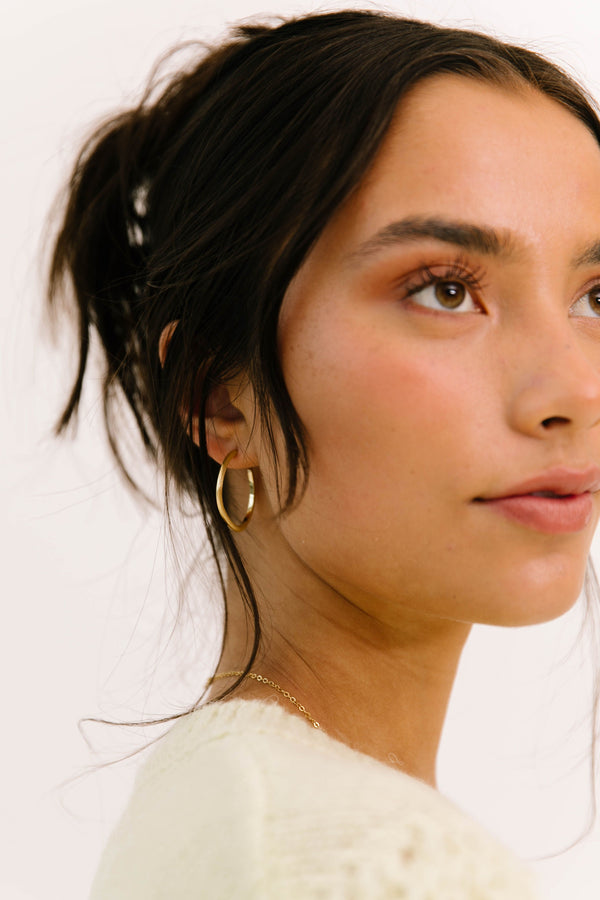 ! Organic Gold Hoop Earrings - Luca + Grae