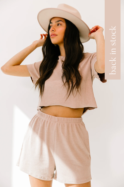Pernille Mauve Top & Shorts Set - Luca + Grae
