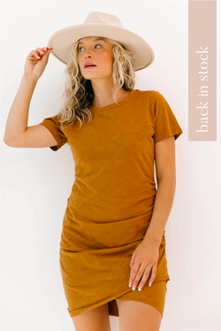 Laguna Camel Dress - Luca + Grae