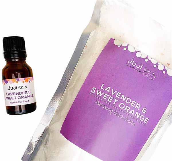 Lavender & Sweet Orange Bath Salt Kit
