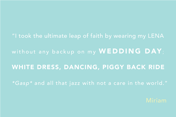Why I Chose to Wear LENA Cup to my Wedding