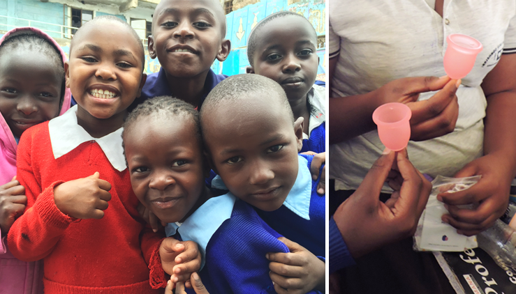 Donations, empowerment and activism - LENA Menstrual Cup