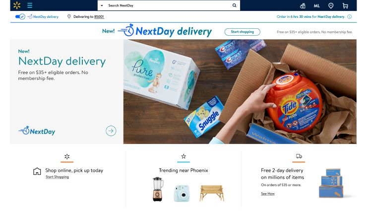 USA: Walmart announces next-day delivery, firing back at Amazon
