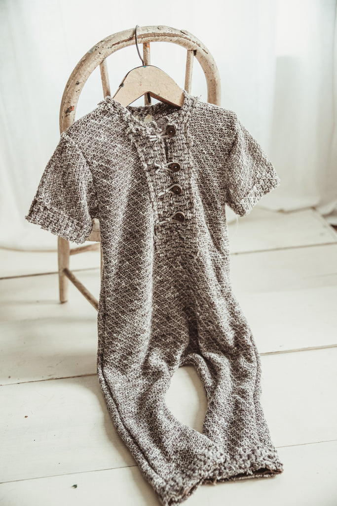 Smokey Gray Romper 9-12m