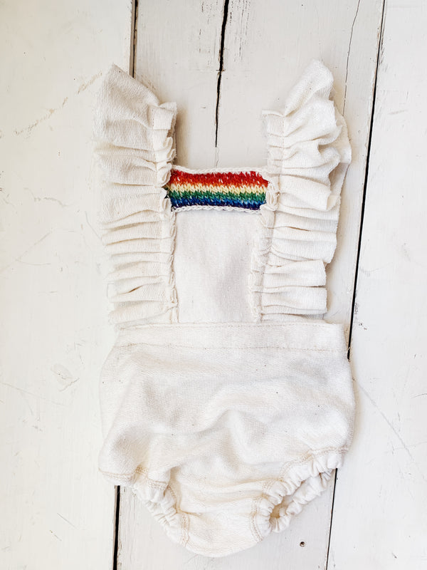 Simple Rainbow Romper 9-12m