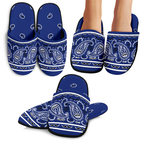 Royal Blue Bandana Slippers