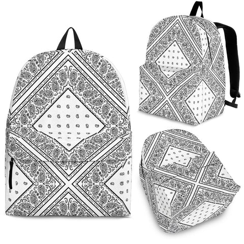 White Bandana Diamond Backpack