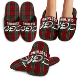 Red Plaid Slippers