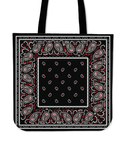 Wicked Black Bandana Tote Bag