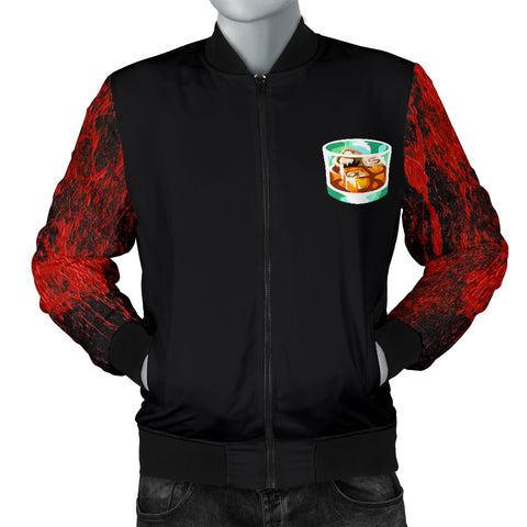 Red Splatter Bomber Jacket