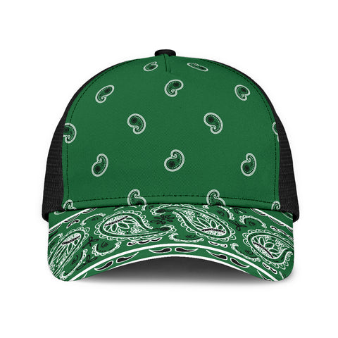 Classic Green Bandana All Over Mesh Back Cap