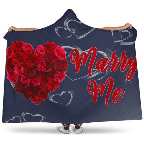 Marry Me Valentine Hooded Blanket