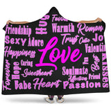 Valentines Day Hooded Blanket