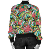 Funky Patterns in Greens - Women's Bomber Jacket
