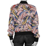 Funky Patterns in Pinks - Women's Bomber Jacket