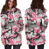 Pink Camo Women's Hoodie Dress