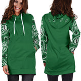 Classic Green Bandana Hoodie Dress