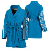 Sky Blue Men's Bandana Sleeved Bathrobe