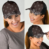 Coffee Brown Bandana All Over Mesh Back Cap