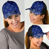 Royal Blue Bandana All Over Mesh Back Cap