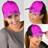 Abruptly Pink Bandana All Over Mesh Back Cap