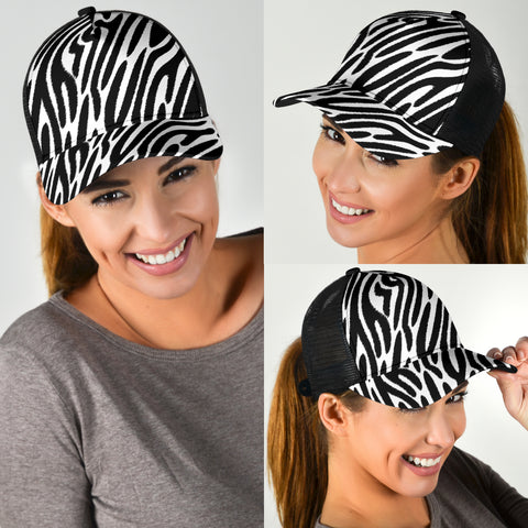 Mesh Back Cap Zebra Animal Print