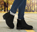 Vegan Black Fashion Boots