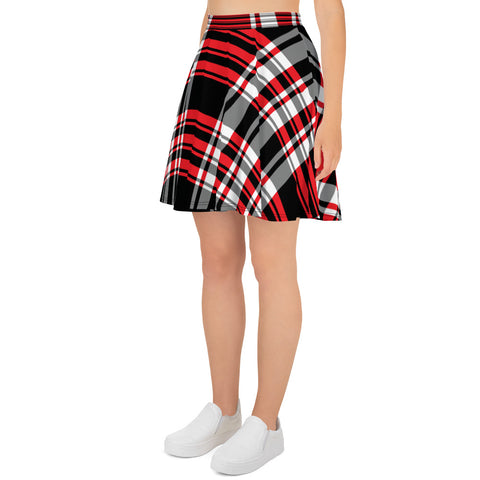 Red Plaid Skater Skirt
