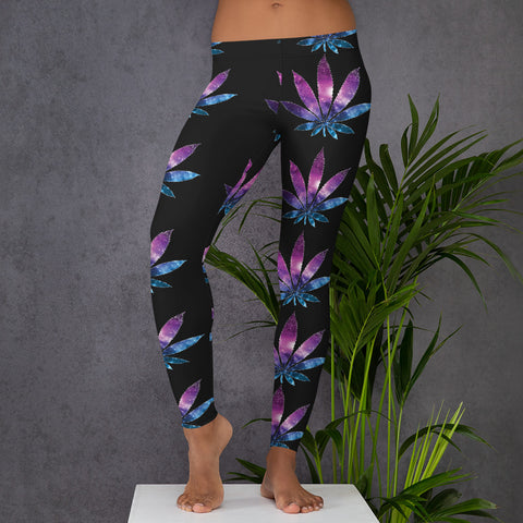 Galaxy Leaf Leggings