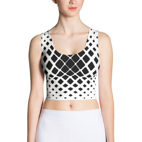 Diamonds Cut Crop Top