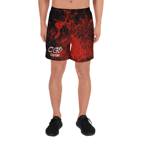 Red Splatter Athletic Shorts