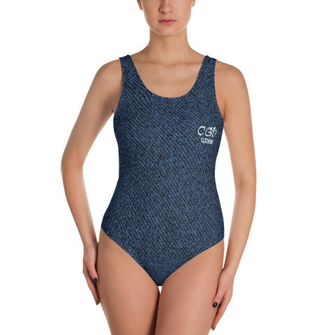 Denim One-Piece Swimsuit