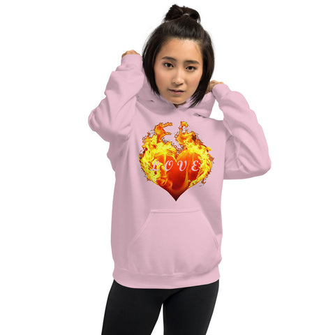 Burning Heart of Love Hoodie