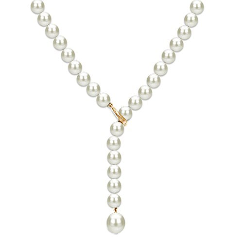 14K Yellow Gold Freshwater Cultured Pearl Necklace for Women 20 inch 7-7.5mm