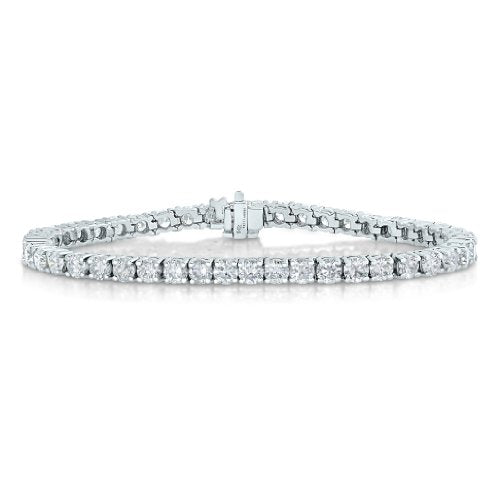 AGS Certified 2 CT I1-I2 Clarity Diamond Bracelet 10K White Gold (H-I)