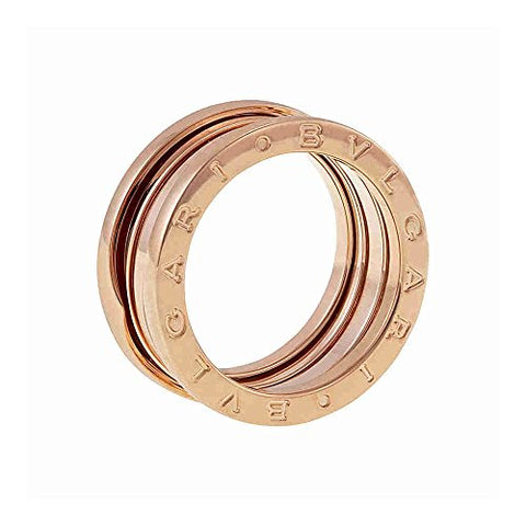 Bvlgari B.ZERO1 18kt Rose Gold 3-Band Ring Size 7 AN852405